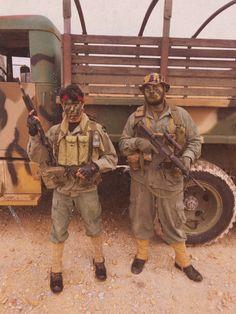 1//6 DID deuxième guerre mondiale US 2nd division blindée de la police militaire Bryan loose Thompson MAGS