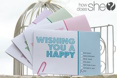 Free printable all occasion cards - HowDoesShe.com @How Does She