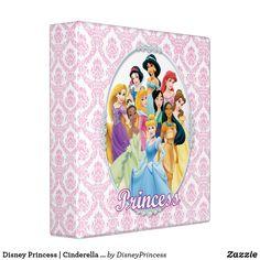 Disney Princess   Cinderella Featured Center 3 Ring Binder