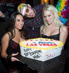 Rapper Mac Miller celebrated his 21st birthday at #TAO Nightclub Las Vegas with a large group of friends on Jan 19, 2013 http://celebhotspots.com/hotspot/?hotspotid=5048=1