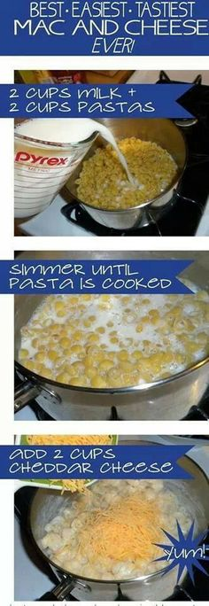 It's the BEST - EASIEST - TASTIEST Mac Cheese recipe ever for homemade macaroni and cheese. And not only is it easy, it's delicious! Mac and cheese without all the processed stuff. Think Food, I Love Food, Good Food, Yummy Food, Tasty Mac And Cheese, Mac Cheese, Macaroni Cheese, Mac N Cheese Easy, Cheddar Cheese
