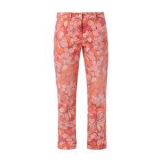 #Cambio #Hose mit #floralem #Muster und #Paspeltaschen fanduuml