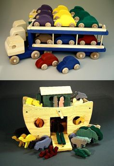 """018. Douglas Gold: """"My wife Bobbie & I have had a wonderful life creating Baby-Safe, Earth-Friendly wooden toys since 1986. We choose materials made or grown in the USA and in looking back I'm proud to say we've always been """"Green"""". Our toys are educational and fun. They are filled with animals, colored and ABC blocks, barrels, logs and people, all in a variety of designs, sizes and colors. It is rewarding to watch a child use our creations to expand their imaginations…"""