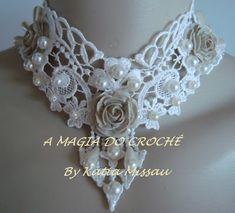 A MAGIA DO CROCHÊ - Katia Missau: Colar Princesa