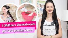 3 MELHORES RECONSTRUÇÕES CASEIRAS QUE VOCÊ PRECISA TESTAR! por Julia Doo...