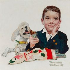 View Mars Candy Company Christmas Card by Norman Rockwell on artnet. Browse more artworks Norman Rockwell from M. Norman Rockwell Prints, Norman Rockwell Paintings, Mars Candy Company, Norman Rockwell Christmas, Company Christmas Cards, Jackson Pollock, American Artists, Artist Art, Vintage Art