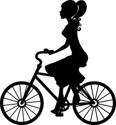 Free Image on Pixabay - Silhouette, Wheel, Cyclist, Bike Photo Images, My Images, Free Images, Bike Silhouette, Black Silhouette, Vector Clipart, Clipart Images, Female Cyclist, Make A Donation