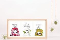One set of three prints, I choose  Love, Joy and Harmony Prints  - Instant Download  Red Roses, Sunflowers and White Lily  Print I Choose Happiness Quotes, Joy And Happiness, Purple Orchids, Choose Love, White Lilies, Lace Print, Sunflowers, Red Roses, Third