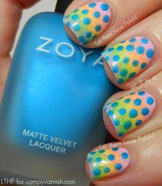 Matte dots over pastel gradient