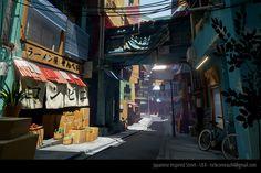 ArtStation - Japanese Inspired Street, Nick Comeau