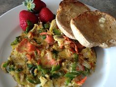 Smoked Salmon Omelette.  Light, tasty and healthy.  Very quick and easy to prepare.  #realfood #cleaneating