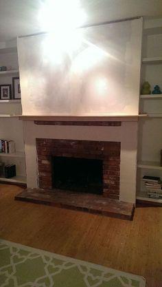 DIY Brick Fireplace Refacing | Fireplace refacing, Brick fireplace ...