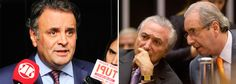 Aécio tenta convencer tucanos da Câmara a votar no candidato de Cunha/Temer