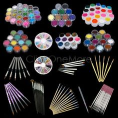 Mmg - nail art glitter #powder rhinestone #drawing pen #brush uv gel set kit tips,  View more on the LINK: 	http://www.zeppy.io/product/gb/2/111858267598/