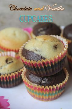 I can never have enough of muffins or cupcakes recipe. Each time i try different recipe and each time i keep on loving this. Donut Muffins, Eggless Muffins, Muffins Blueberry, Eggless Chocolate Cupcakes, Eggless Desserts, Eggless Recipes, Eggless Baking, Chocolate Muffins, Hand Embroidery