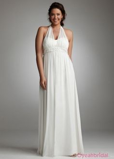 2013 Elegant Column Illusion Halter Empire Crystal Long White Simple Chiffon Wedding Dresses WD-2241