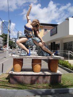 Sculpture of a dancer. Recife, Pernambuco, Brazil.