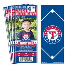 Having a birthday party for an Rangers fan? How better to show that fans love of the game than with a party invitation that looks like a ticket!