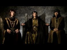 David Starkey's portrayal of the three brothers of the House of York from his show Monarchy. I like this image because the photo visually reinforces the power and military might of the trio.