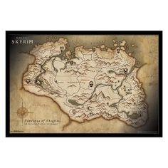 Skyrim Map High Resolution Skyrim Maps House Decor