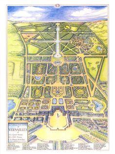 ⇚ Map Quest ⇛ maps & globes in history, art, craft & decor - Jamshid Kooros - Map of Versailles