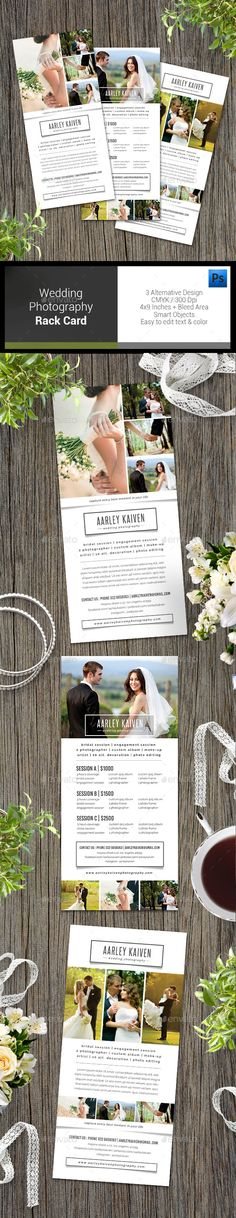 Simple Wedding Photography Rack Card — Photoshop PSD #elegant #advertisement • Available here → https://graphicriver.net/item/simple-wedding-photography-rack-card/12819592?ref=pxcr