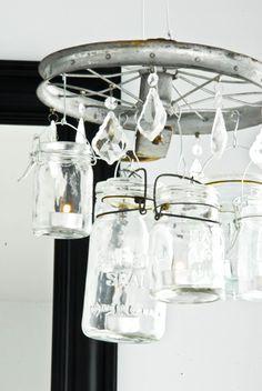 handmade chandelier...by Sibylle Roessler...