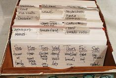 menu planning ideas. love her blog.