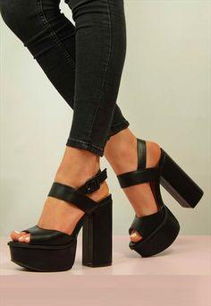 381ce0e7e95 NEW WOMENS LADIES SHOES SANDALS HIGH HEELS PLATFORM SIZE UK Shoes Heels  Wedges