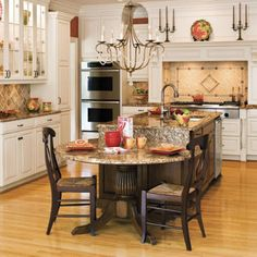 I like how they added the mantle/shelf over the stove.  I could do this in my kitchen!