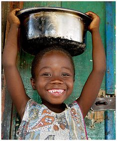 little girl from the village of Chirombo with an beautiful smile