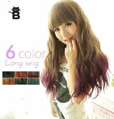 Amazon.co.jp: MS525X フルウィッグ 毛先染め製法 耐熱 ロング ウェーブ ウィッグ グラデーション: 服&ファッション小物
