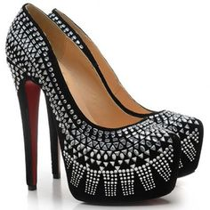Louboutin, i must admit. Red Bottom Pumps, Cheap Christian Louboutin, Red Bottoms, Hot Shoes, Black Pumps, Me Too Shoes, High Heels, Sexy Heels, Shoe Boots