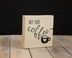But First Coffee Painted Canvas by TwoLittleGingers on Etsy