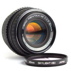 SMC 50mm f1.7 Pentax Lens PK Pentax K Fit DSLR Adaptable EOS MFT BMCC