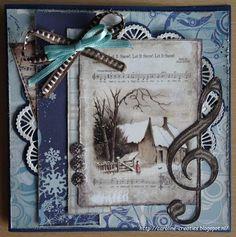 Caroline's+Creaties:+Huisje+in+de+sneeuw