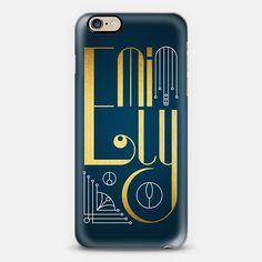 Emily (Gold Lettering Art Deco) - New Standard Case  #Emily #lettering #typography #name #gold #golden #artdeco #artnoveau #deco #noveau #steampunk #ornate #letter #case #iphone #cover #iphones6 #phone #casetify