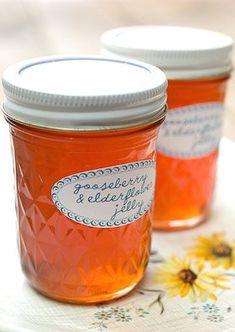 gooseberry and elderflower jelly