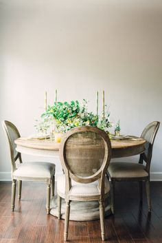Small rustic dining room table: http://www.stylemepretty.com/living/2016/10/25/15-dining-rooms-we-want-to-host-thanksgiving-in/ Photography: Rustic White - http://www.rusticwhite.com/