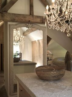 Belgian Design  The only thing nicer than a beautiful chandelier is one reflected in a gorgeous mirror