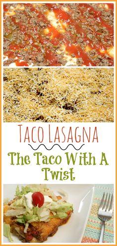 Taco Lasagna ~ The Taco With A Twist Recipe! #TacoTuesday #TacoRecipes #lasagna