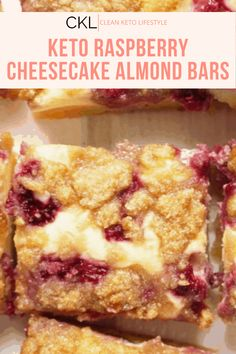 These Keto Raspberry Cheesecake Bars are going to be your new favorite keto dessert! They are a keto, low-carb, grain-free, gluten-free treat made to share with family and friends. No Cook Desserts, Mini Desserts, Health Desserts, Health Foods, Pumpkin Cheesecake, Oreo Cheesecake, Raspberry Cheesecake Bars, Banana Bars, Keto Bars