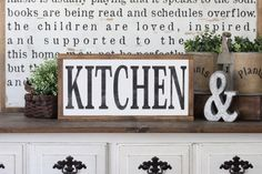 Kitchen Sign Rustic Sign Home Decor Wood Sign Farmhouse
