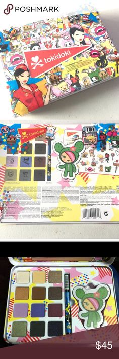 Tokidoki SodaShop Palette New and never opened Tokidoki SodaShop Palette (the picture of the inside is a photo I got off the internet).              ❌ No Trades.                                                                           ✅ Open to reasonable offers.                                                ✅ My home  is smoke  free and cat free.                    ✅ Discount is available when you bundle tokidoki Makeup
