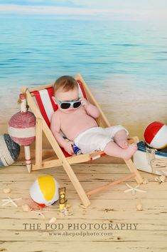 Beach Theme Photoshoot Summer Baby Photos, Cute Baby Boy Photos, Baby Boy Pictures, Beach Baby Photography, Newborn Photography, Toddler Beach, Baby Portraits, Baby Month By Month, Photo Sessions