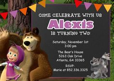 Masha and the Bear Invitation