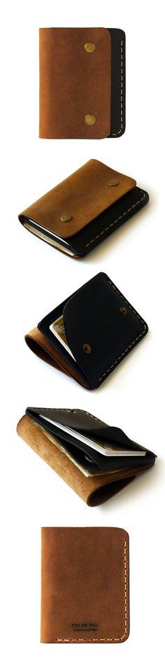 AtelierPall.com vertical snap wallet