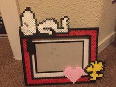 Cacahuetes Snoopy & Woodstock Perler cuentas marco