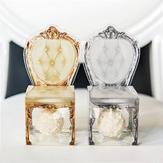 Transparent Chair-Shaped Favor Boxes (2 Colors) (Set of 10)