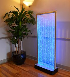 4 Foot Bubble Wall Aquarium LED Lighting Indoor Panel Water Fall Feature Fountain on Etsy, $525.00